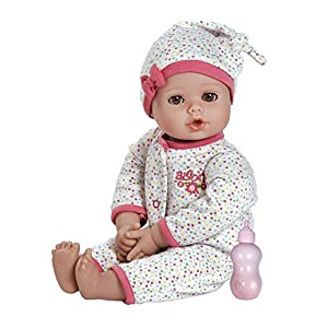 "Adora PlayTime Baby Dot Vinyl 13"" Girl Weighted Washable Play Doll Gift Set with Open/Close Eyes for Children 1+ Includes Bottle Cuddly Snuggle Soft Toy - 51Ttjp2xlBL - Adora PlayTime Baby Dot Vinyl 13″ Girl Weighted Washable Play Doll Gift Set with Open/Close Eyes for Children 1+ Includes Bottle Cuddly Snuggle Soft Toy"