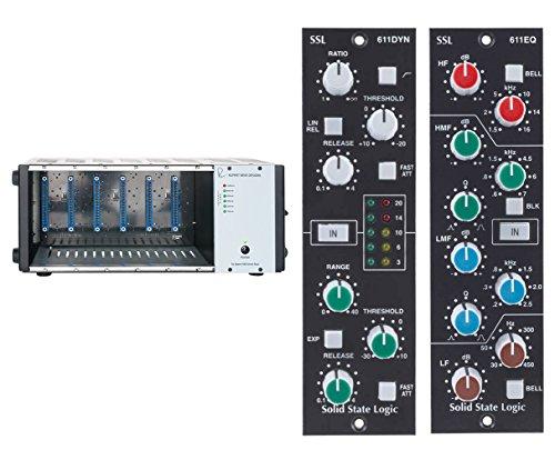 Rupert Neve Designs R6 500 Series Rack Chassis + SSL 611EQ + 611DYN Modules -