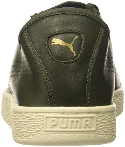 Puma Menns Kurv Klassisk Myk Sneaker Oliven Natt