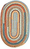 Olivera Oval Rug, 2 by 12-Feet, Vintage Blue