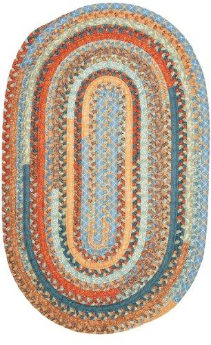 Olivera Oval Rug, 2 by 12-Feet, Vintage Blue