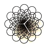Rings L - Unique Contemporary Wooden Wall Clock in larger size, Geometric Design