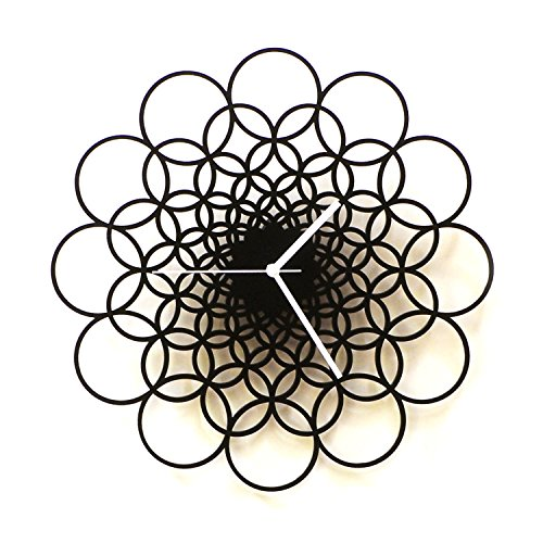 Rings L - Unique Contemporary Wooden Wall Clock i