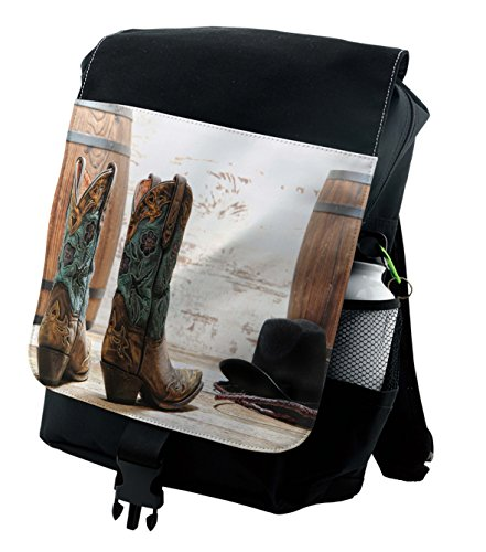 Lunarable Western Backpack, American Rodeo Themed Girl, Durable All-Purpose Bag