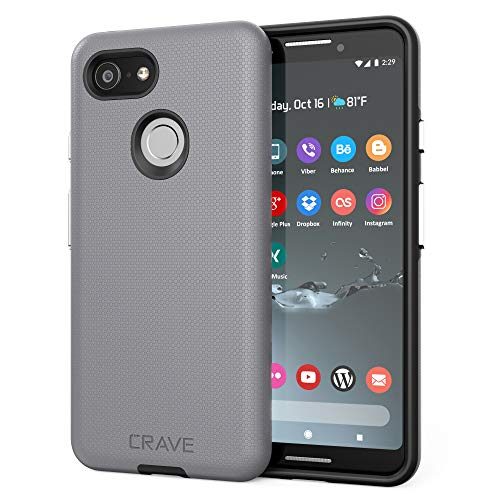 Pixel 3 Case, Crave Dual Guard Protection Series Case for Google Pixel 3 - Slate