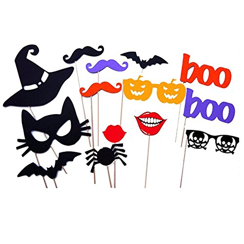 28 Pcs DIY Colorful Photo Booth Props On A Stick Mustache Bearded Lips Hat Masks For Fun Wedding Favor Halloween Birthday Party (Halloween Wholesale Australia)
