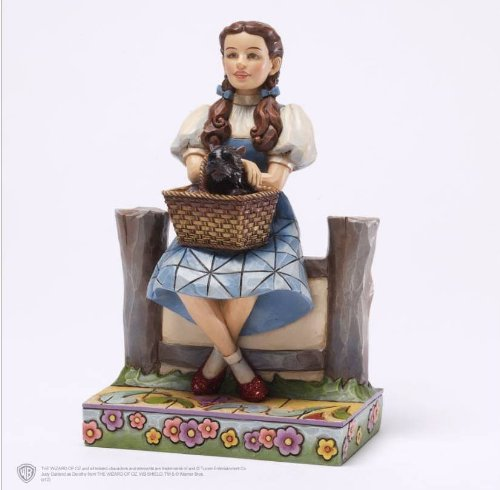 Enesco Jim Shore Wizard of Oz Dorothy and TOTO Figurine, 5.875-Inch -