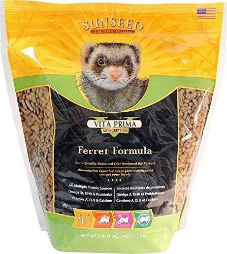 Sunseed Sunscription Vita Prima Ferret Formula, 3-Pound Bag