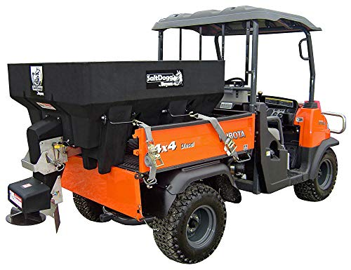 SaltDogg SHPE0750 Electric Poly Hopper Spreader 0.75 Cubic Yards Black