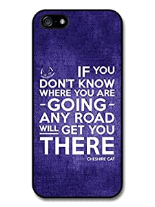 Cheshire Cat Alice in Wonderland Life Inspirational Quote Case For HTC One M8 Cover