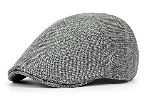 Qunson Men's Duckbill Ivy Newsboy Cap Scally Hat (Duckbill Cap)