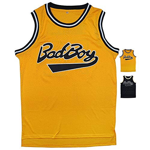 Micjersey BadBoy #72 Smalls Basketball Jersey, 90S Hip Hop Clothing for Party S-XXXL (Yellow, L)