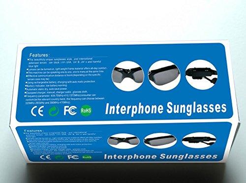Walkie-talkie Lunettes de soleil Lunettes Smart Sports Walkie-talkie  Outdoor Lunettes de soleil de travail  Amazon.fr  Sports et Loisirs 14dd8a6d2fbd