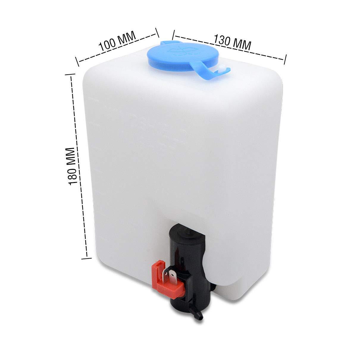 MASO Kit de Botella Universal para limpiaparabrisas con Manguera de Bomba y Interruptor de cableado para VW Classic Coche 12 V, Barco y Marino: Amazon.es: ...