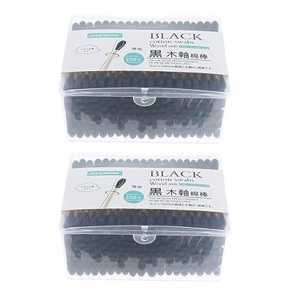 P Prettyia 400 Pcs Dispensador de Bastoncillos de Algodón Transparente para Cosméticos