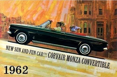 1962 CHEVY CORVAIR MONZA SPYDER CONVERTIBLE DEALERSHIP FULL-COLOR SALES BROCHURE - ADVERTISMENT - LITERATURE - CHEVEROLET 62 (Corvair 1962 Convertible)