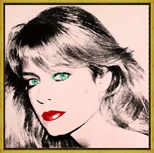 Berkin Arts Framed Andy Warhol Giclee Canvas Print Paintings Poster Reproduction (Farrah Fawcett)