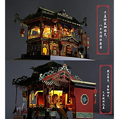 MU Zui Xiao Tower Architecture DIY Assemble Puzzle Laser Cut Jigsaw Toys YM-N079-A: Toys & Games