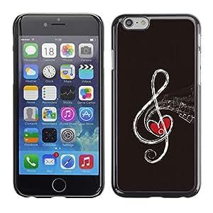 A-type Arte & diseño plástico duro Fundas Cover Cubre Hard Case Cover para Apple (4.7 inches!!!) iPhone 6 / 6S (Nota de la música abstracta)