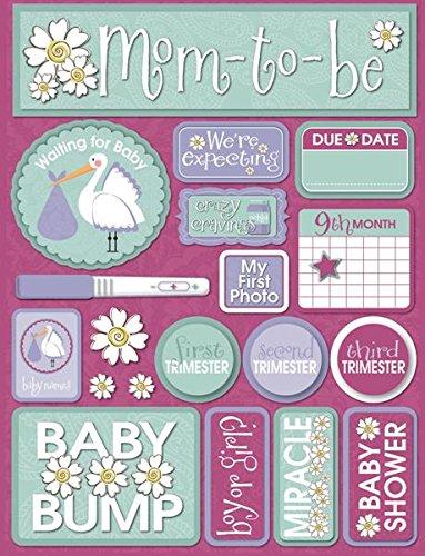 - Reminisce Signature Series Dimensional Cardstock Stickers-Pregnancy