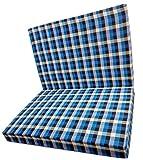 BHD 'Mattress That Breathe' Blue Black Three Fold Single Bed Size Premium 2.2 inches EPE Foam Foldable Mattresses 72' X 35' X 2.2'