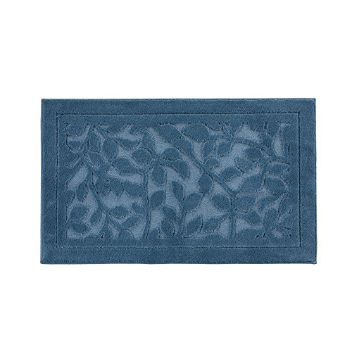 Collections Leaf Pattern Decorative Indoor Area Accent Rug, Blue, 27'' X 45'' by Collections
