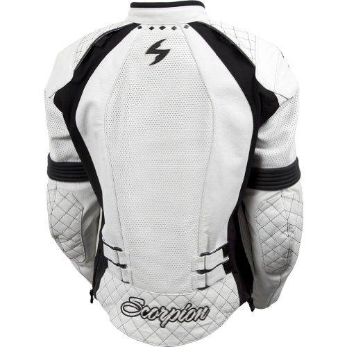Scorpion Vixen Women's Leather Street Motorcycle Jacket - White / (Factory Leather Jacket)