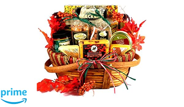 Amazon.com  Gobble Till You Wobble Fall Themed Gift Baskets or Thanksgiving Gift Basket With Gourmet Cheeses Sausages and Delicious Sweets (Large) ...  sc 1 st  Amazon.com & Amazon.com : Gobble Till You Wobble Fall Themed Gift Baskets or ...