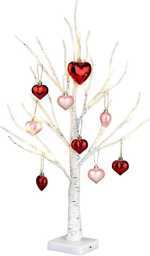 8 Adorno Decoración de Navidad púrpura en forma de corazón árbol de fiesta Ornamento Regalo Día de San Valentín
