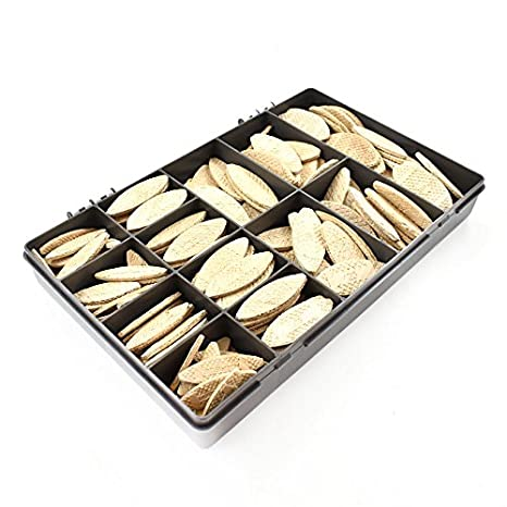 210 ASSORTED LAMELLO STYLE WOODEN BISCUITS 0 10 20 30 JOINERY WORKTOP WOOD KIT Falcon Workshop Supplies Ltd