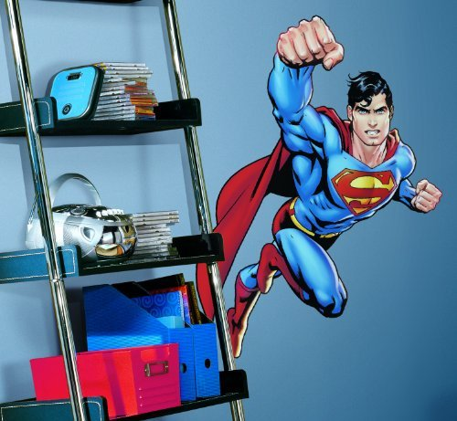 RoomMates RMK1156GM Superman: Day Of Doom Peel & Stick Giant Wall Decal, Garden, Lawn, Maintenance