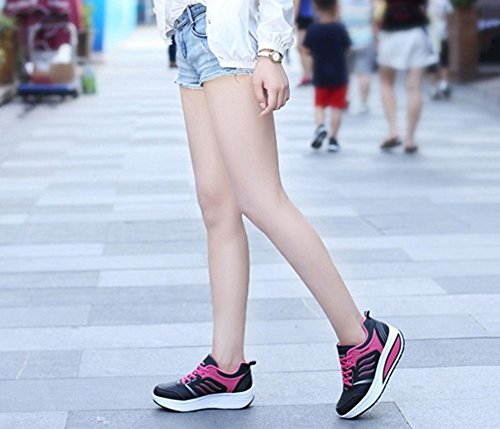 para redonda otoño blanco mujer Zapatos azul rojo Comfort SHINIK Do rosa zapatillas PU tacón punta de negro plano gris primavera Casual verano xg7RwYOwq