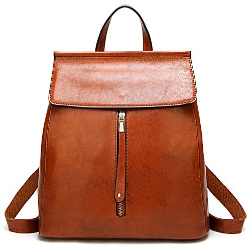 Leather Backpack Bag Handbag Purse (ELOMBR Women Backpack Purse Casual Shoulder Bag Ladies Rucksack School Bag for Girls)