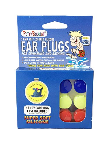 Putty Buddies Original Swimming Earplugs, 3-Pair Pack ()