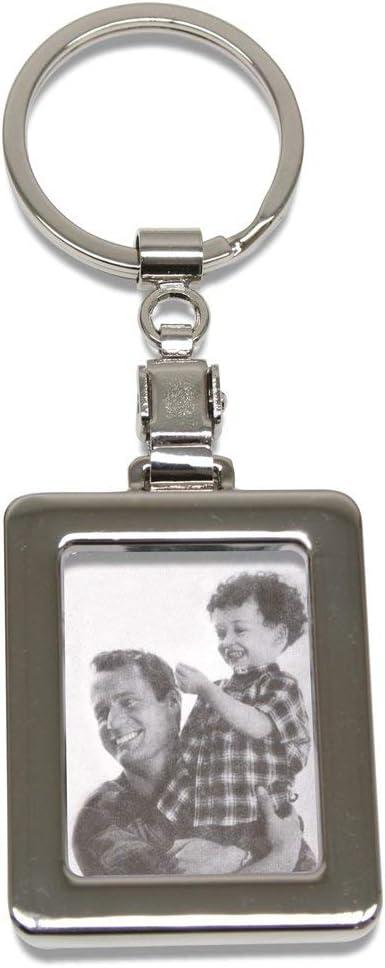 Portachiavi Rettangolare in Metallo con portafoto 11,5 x 5 x 0,7 cm Deknudt Frames S59NB1-3.5X4.5