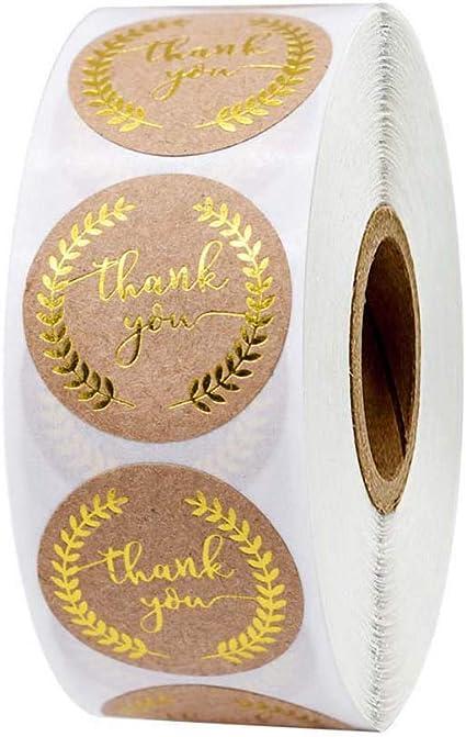 500Pcs//Roll Handmade Thank You Stickers Wedding Birthday Flowers Labels NE W