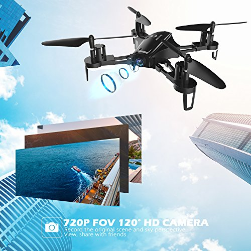 51Ttp3FdZSL - Holy Stone HS230 RC Racing FPV Drone with 120° FOV 720P HD Camera Live Video 45Km/h High Speed Wind Resistance Quadcopter with 5.8G LCD Screen Real Time Transmitter Includes Bonus Battery