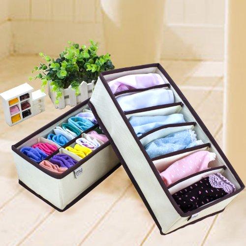MIU COLOR Drawer Dividers Closet Organizers Bra Underwear Storage Boxes (Set of 4)