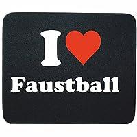 EXKLUSIV bei uns: Mousepad I Love Faustball in Schwarz, eine tolle...