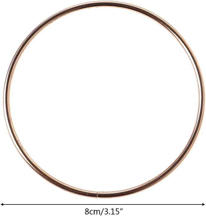19 cm//7.48 in BYNNIX 35mm-190mm Metal Dream Catcher Dreamcatcher Ring Macrame Craft Hoop DIY Accessory