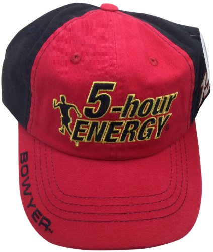 Michael Waltrip Hat - 5-hour Energy Clint Bowyer #15 Hat Checkered Flag NASCAR Adjustable