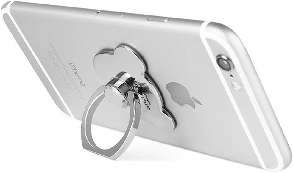 Aiqaa Metal Phone Ring Stand for Smartphones Silvery