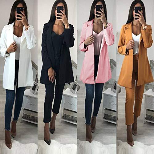 Roulé Veste Mode Sodial À Coupe Couleur Ceinture Cardigan Avec Noir Femme vent Manches Ol Longues De La Manteau Pour Pure Costume S Petit Blanc q44Yt
