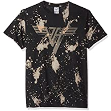 FEA Van Halen Classic Logo Bleach Dye Mens T-Shirt