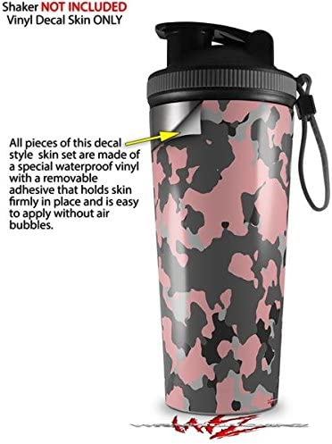 SHAKER NOT INCLUDED Skin Wrap Decal for IceShaker 2nd Gen 26oz WraptorCamo Old School Camouflage Camo Pink