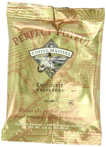 Coffee Masters Perfect Potful Chocolate Raspberry Ground Coffee, 1.5-Ounce Packets (Pack of 12)