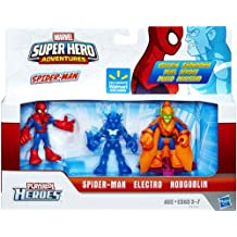 Marvel Playskool Super Hero Adventures Exclusive Mini Figure 3-Pack Spider-Man, Electro & Hobgoblin