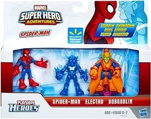 Marvel Playskool Super Hero Adventures Exclusive Mini Figure Spider-Man, Electro & Hobgoblin by Super Hero Adventures