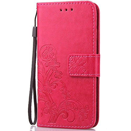 Fashion Embossed Leather Magnetic Holders