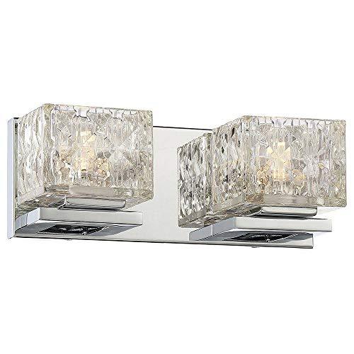 Good Lumens by Madison Avenue 2-Light Chrome LED Bath Vanity Light
